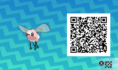 083 Pokemon Sun and Moon Shiny Cutiefly QR Code
