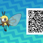 084 Pokemon Sun and Moon Ribombee QR Code