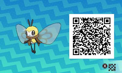 084 Pokemon Sun and Moon Ribombee QR Code