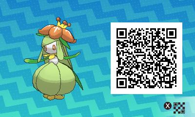 086 Pokemon Sun and Moon Lilligant QR Code