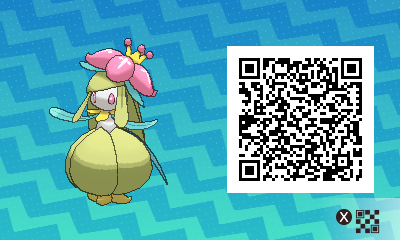 086 Pokemon Sun and Moon Shiny Lilligant QR Code