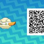 087 Pokemon Sun and Moon Shiny Cottonee QR Code