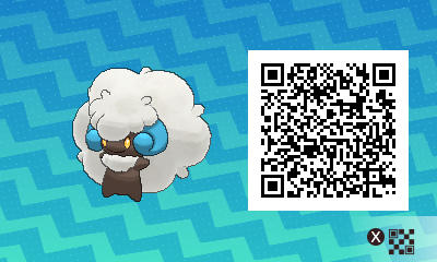 088 Pokemon Sun and Moon Shiny Whimsicott QR Code