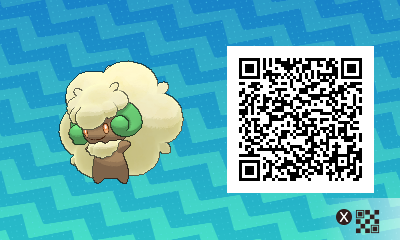 088 Pokemon Sun and Moon Whimsicott QR Code