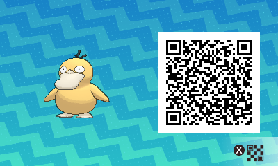 089 Pokemon Sun and Moon Psyduck QR Code