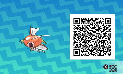 091 Pokemon Sun and Moon Female Magikarp QR Code