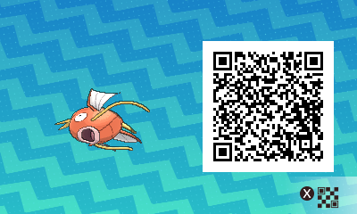 091 Pokemon Sun and Moon Male Magikarp QR Code