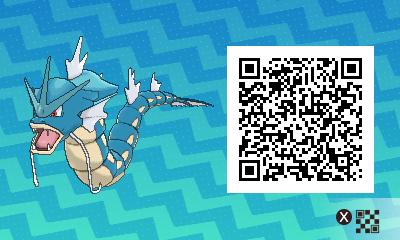 092 Pokemon Sun and Moon Female Gyarados QR Code