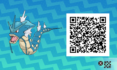 092 Pokemon Sun and Moon Male Gyarados QR Code