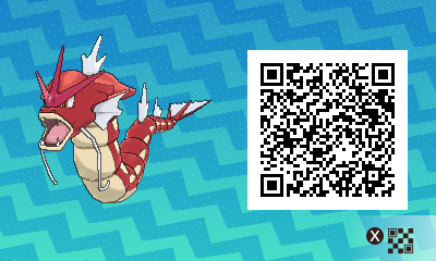 092 Pokemon Sun and Moon Shiny Female Gyarados QR Code
