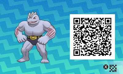 096 Pokemon Sun and Moon Machoke QR Code