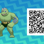 096 Pokemon Sun and Moon Shiny Machoke QR Code