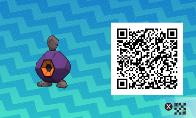 098 Pokemon Sun and Moon Shiny Roggenrola QR Code
