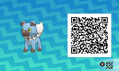 103 Pokemon Sun and Moon Shiny Rockruff QR Code
