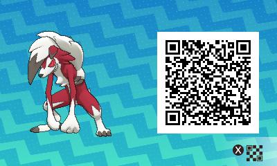 104 Pokemon Sun and Moon Midnight Lycanroc QR Code