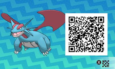 119 Pokemon Sun and Moon Salamance QR Code