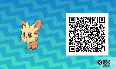 120 Pokemon Sun and Moon Lillipup QR Code