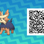 121 Pokemon Sun and Moon Herdier QR Code