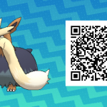 122 Pokemon Sun and Moon Stoutland QR Code