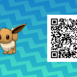 123 Pokemon Sun and Moon Eevee QR Code