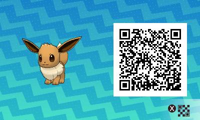 123 Pokemon Sun and Moon Eevee QR Code