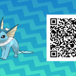 124 Pokemon Sun and Moon Vaporeon QR Code