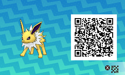 125 Pokemon Sun and Moon Jolteon QR Code