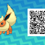 126 Pokemon Sun and Moon Flareon QR Code
