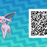 127 Pokemon Sun and Moon Espeon QR Code