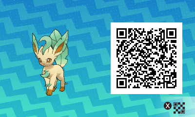 129 Pokemon Sun and Moon Leafeon QR Code
