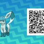 130 Pokemon Sun and Moon Glaceon QR Code