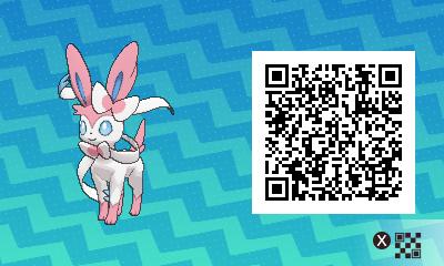 131 Pokemon Sun and Moon Sylveon QR Code