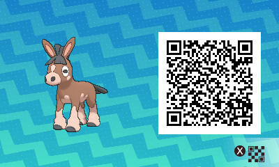 132 Pokemon Sun and Moon Mudbray QR Code