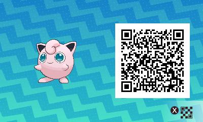 135 Pokemon Sun and Moon Jigglypuff QR Code