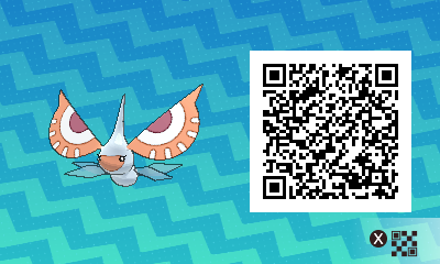 140 Pokemon Sun and Moon Masquerain QR Code