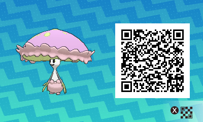 146 Pokemon Sun and Moon Shiinotic QR Code