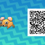 147 Pokemon Sun and Moon Paras QR Code