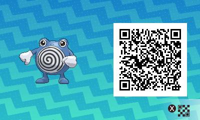 150 Pokemon Sun and Moon Poliwhirl QR Code