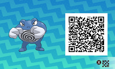 151 Pokemon Sun and Moon Poliwrath QR Code