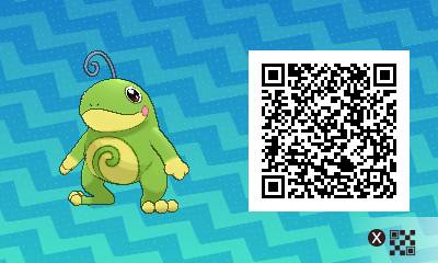 152 Pokemon Sun and Moon Politoed QR Code