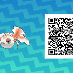 153 Pokemon Sun and Moon Goldeen QR Code