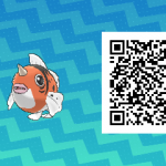 154 Pokemon Sun and Moon Seaking QR Code