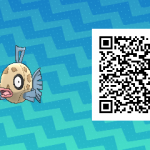 155 Pokemon Sun and Moon Feebas QR Code