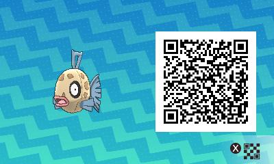 155 Pokemon Sun and Moon Feebas QR Code