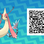 156 Pokemon Sun and Moon Milotic QR Code
