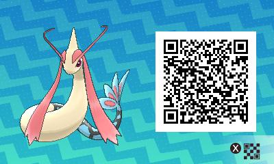 156 Pokemon Sun and Moon Milotic QR Code