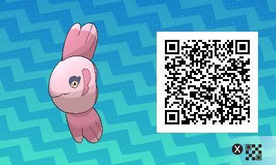 157 Pokemon Sun and Moon Alomomola QR Code