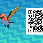 159 Pokemon Sun and Moon Fletchinder QR Code