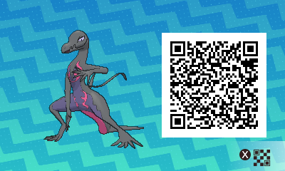 162 Pokemon Sun and Moon Salazzle QR Code