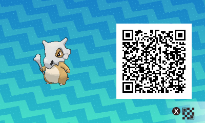 163 Pokemon Sun and Moon Cubone QR Code